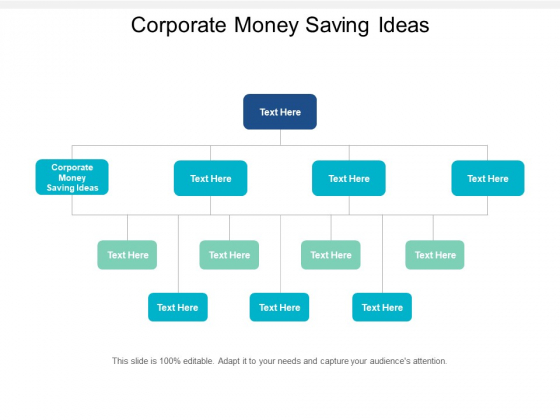 Corporate Money Saving Ideas Ppt PowerPoint Presentation Professional Graphics Cpb