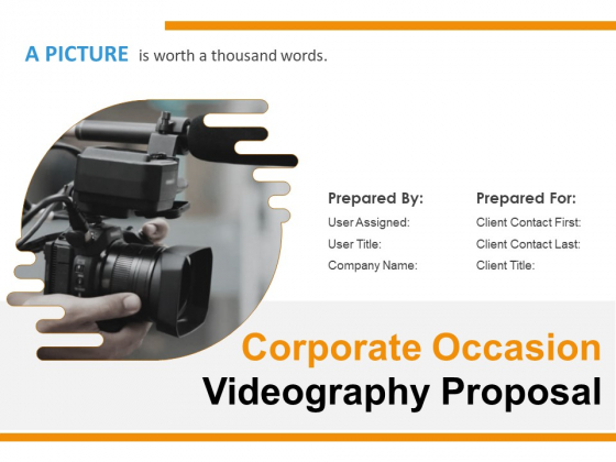Corporate Occasion Videography Proposal Ppt PowerPoint Presentation Complete Deck With Slides