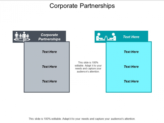 Corporate Partnerships Ppt PowerPoint Presentation Slides Summary Cpb