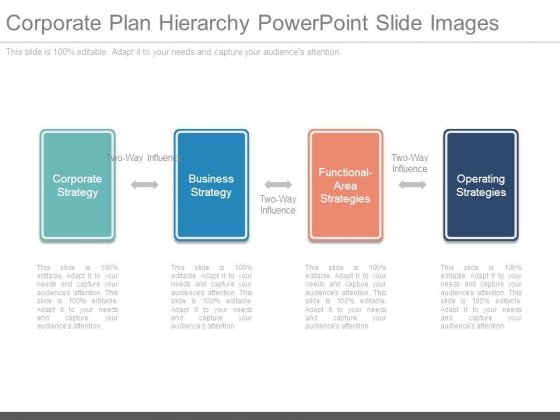 Corporate Plan Hierarchy Powerpoint Slide Images