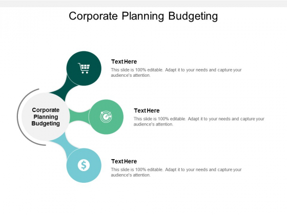 Corporate Planning Budgeting Ppt PowerPoint Presentation Model Display Cpb