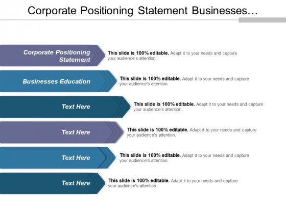 Corporate Positioning Statement Businesses Education Ppt PowerPoint Presentation Styles Layout Ideas