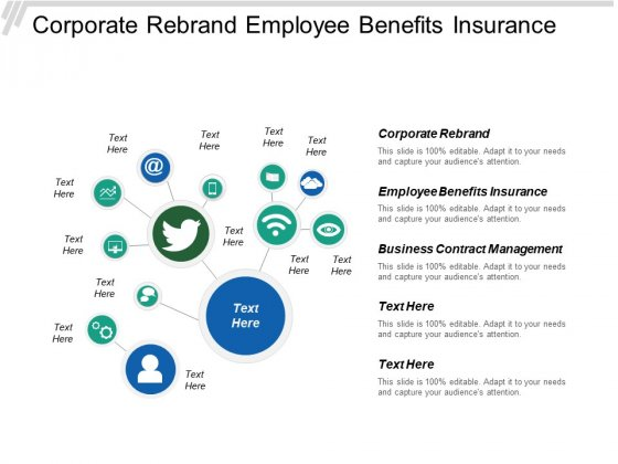 Corporate Rebrand Employee Benefits Insurance Business Contract Management Ppt PowerPoint Presentation Model Designs