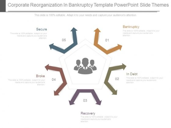 Corporate Reorganization In Bankruptcy Template Powerpoint Slide