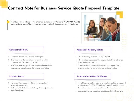 Corporate_Service_Quote_Proposal_Ppt_PowerPoint_Presentation_Complete_Deck_With_Slides_Slide_9