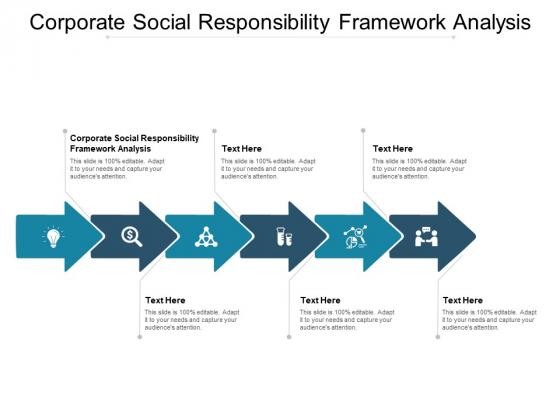 Corporate Social Responsibility Framework Analysis Ppt PowerPoint Presentation Outline Slide Portrait Cpb