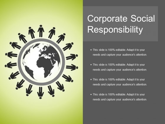 Corporate Social Responsibility Ppt PowerPoint Presentation Ideas Infographics