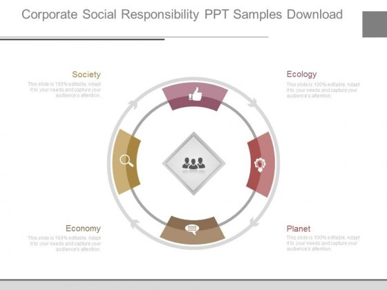 Corporate Social Responsibility Ppt Samples Download