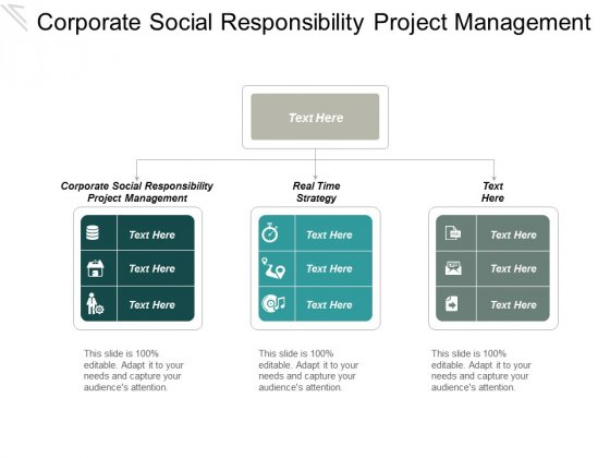 Corporate Social Responsibility Project Management Real Time Strategy Ppt PowerPoint Presentation Outline Example File