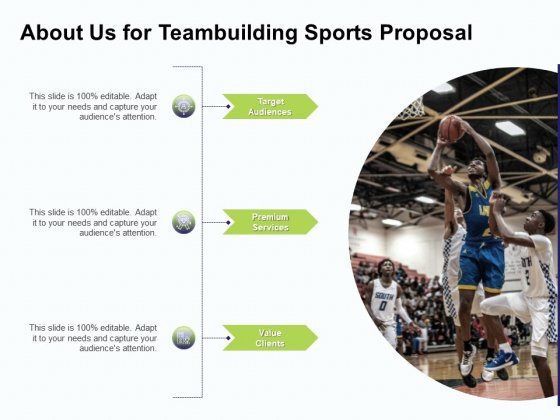 Corporate Sports Team Engagement About Us For Teambuilding Sports Proposal Premium Rules PDF