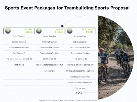 Corporate Sports Team Engagement Sports Event Packages For Teambuilding Sports Proposal Rules PDF