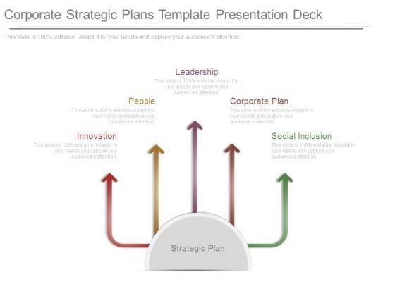 Corporate Strategic Plans Template Presentation Deck