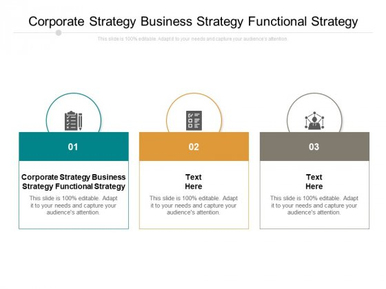 Corporate Strategy Business Strategy Functional Strategy Ppt PowerPoint Presentation Layouts Ideas Cpb