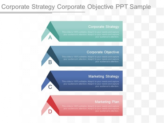 Corporate Strategy Corporate Objective Ppt Sample