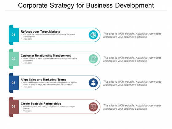 Corporate Strategy For Business Development Ppt PowerPoint Presentation Infographic Template Graphics Example