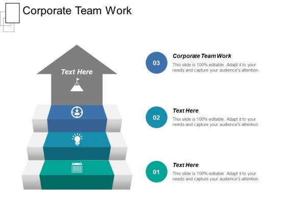 Corporate Team Work Ppt PowerPoint Presentation Ideas Guidelines Cpb