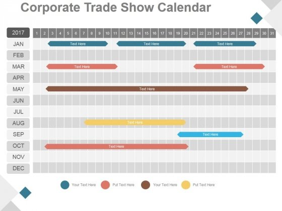 Corporate Trade Show Calendar Ppt PowerPoint Presentation Infographics