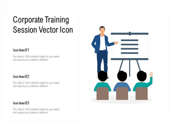 Corporate Training Session Vector Icon Ppt PowerPoint Presentation File Example PDF