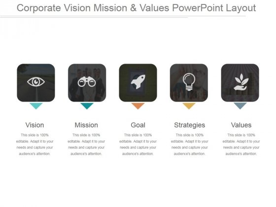Corporate Vision Mission And Values Ppt PowerPoint Presentation Examples