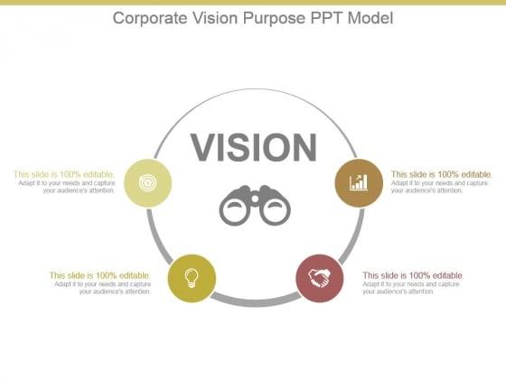 Corporate Vision Purpose Ppt Model