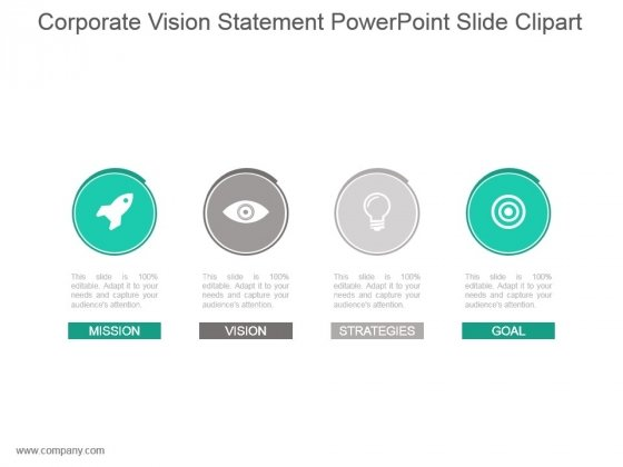 Corporate Vision Statement Powerpoint Slide Clipart