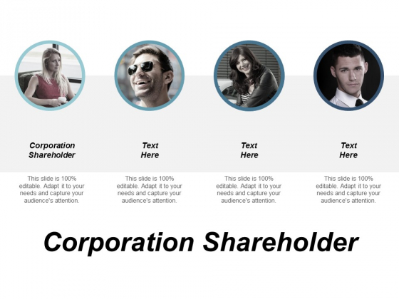 Corporation Shareholder Ppt Powerpoint Presentation Pictures Styles Cpb