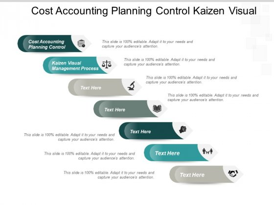 Cost Accounting Planning Control Kaizen Visual Management Process Ppt PowerPoint Presentation Outline Show