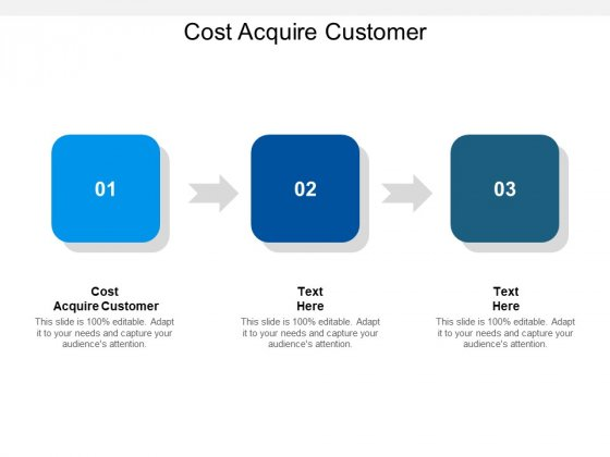 Cost Acquire Customer Ppt PowerPoint Presentation Layouts Design Templates Cpb