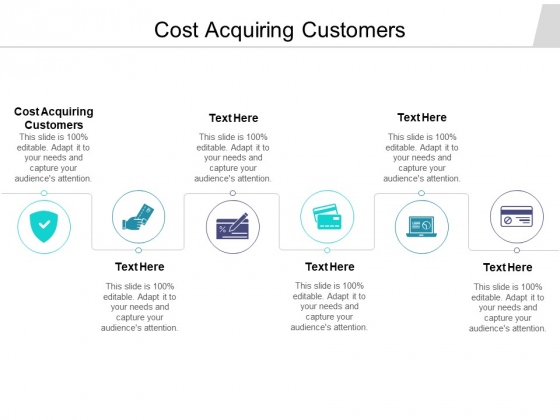 Cost Acquiring Customers Ppt PowerPoint Presentation Diagram Graph Charts Cpb Pdf