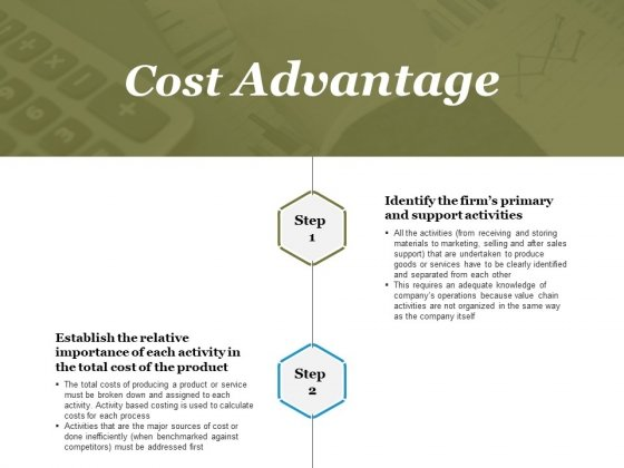 Cost Advantage Template 1 Ppt PowerPoint Presentation Icon Images