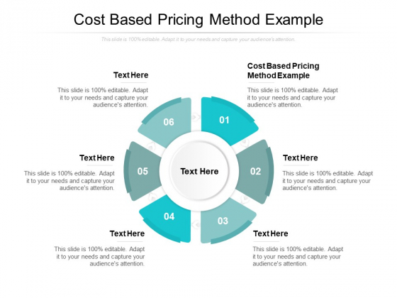 Cost Based Pricing Method Example Ppt PowerPoint Presentation Graphics Cpb