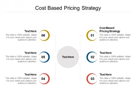 Cost Based Pricing Strategy Ppt PowerPoint Presentation Infographic Template Outline Cpb Pdf