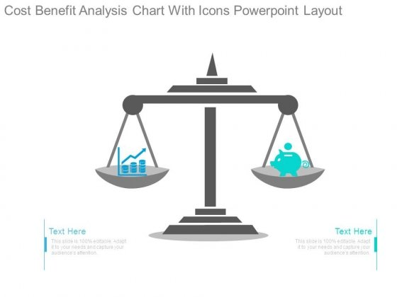Cost Benefit Analysis Chart With Icons Powerpoint Layout