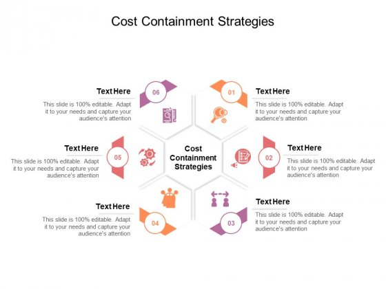 Cost Containment Strategies Ppt PowerPoint Presentation Professional Infographics Cpb