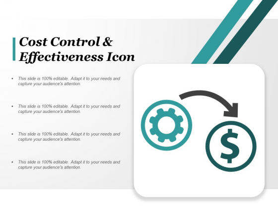 Cost Control And Effectiveness Icon Ppt PowerPoint Presentation Portfolio Demonstration