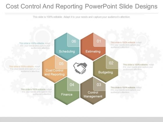 Cost Control And Reporting Powerpoint Slide Designs