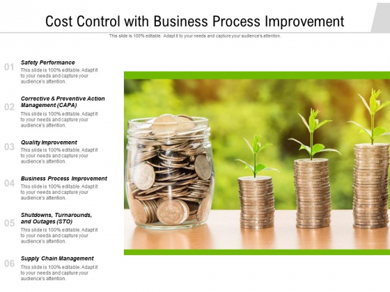 Cost Control With Business Process Improvement Ppt PowerPoint Presentation File Demonstration PDF