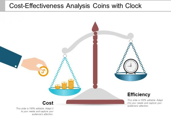 Cost Effectiveness Analysis Coins With Clock Ppt PowerPoint Presentation Summary Design Inspiration