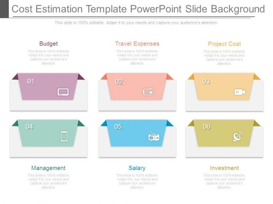 Cost Estimation Template Powerpoint Slide Background Powerpoint