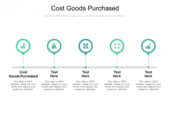 Cost Goods Purchased Ppt PowerPoint Presentation Show Ideas Cpb