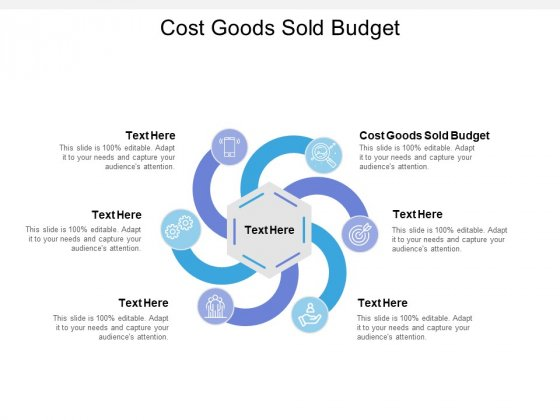 Cost Goods Sold Budget Ppt PowerPoint Presentation Styles Show Cpb