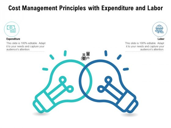 Cost Management Principles With Expenditure And Labor Ppt PowerPoint Presentation Slides Layouts PDF