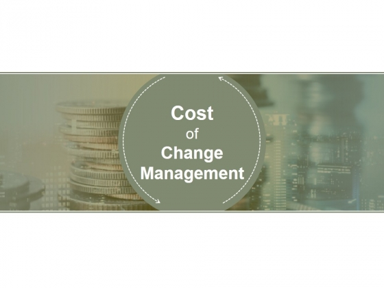 Cost Of Change Management Ppt PowerPoint Presentation Icon Slides