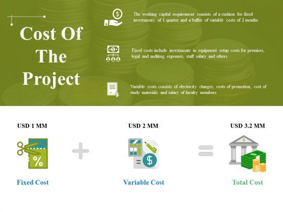 Cost Of The Project Ppt PowerPoint Presentation Outline Clipart