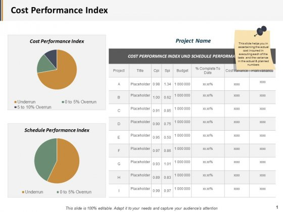 Cost Performance Index Ppt PowerPoint Presentation Inspiration Graphics Example