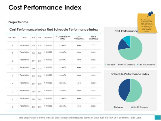 Cost Performance Index Ppt PowerPoint Presentation Styles Vector