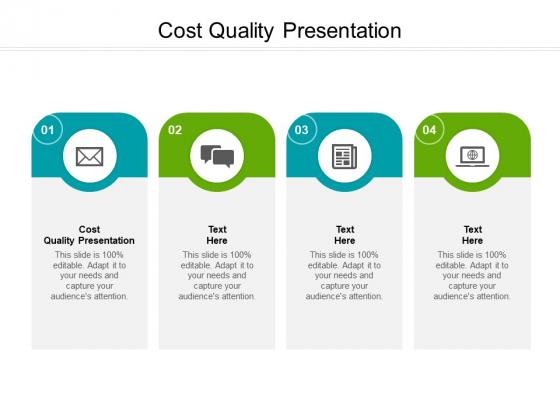 Cost Quality Presentation Ppt PowerPoint Presentation Slides Summary Cpb Pdf