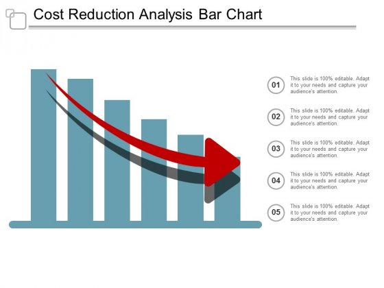 Cost Reduction Analysis Bar Chart Ppt Powerpoint Presentation File Graphics Design