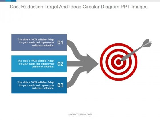 Cost Reduction Target And Ideas Circular Diagram Ppt PowerPoint Presentation Background Image