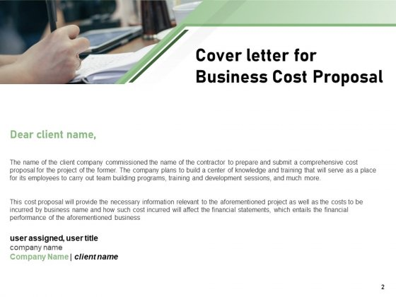 Cost_Savings_Proposal_To_A_Company_Ppt_PowerPoint_Presentation_Complete_Deck_With_Slides_Slide_2